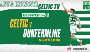 Join us for exclusive betfred league cup action on celtic tv