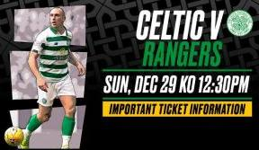 Celtic v Rangers tickets on sale now to eligible STH