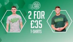 Grab a bargain with 2 for £35 on our new t-shirt range