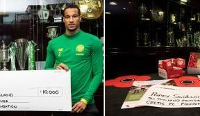 Celtic FC Foundation make donation to Poppyscotland