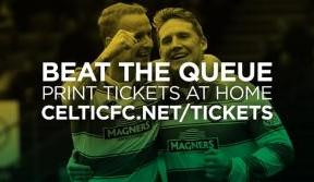 Print at home tickets available now for Saturday v St Johnstone