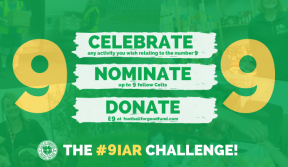 Celebrate 9, nominate 9, donate 9 for the football for good fund