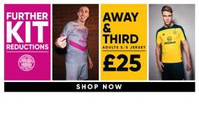 Further kit reductions! Away and third kit shirts down to £25