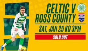 Another sold out fixture for the champions v Ross County