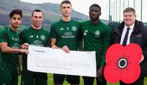 Celtic FC Foundation donates £10,000 to PoppyScotland