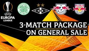 Secure your Europa League three-match package online now