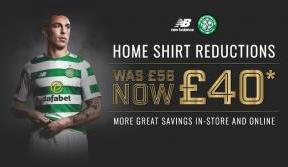 Home kit reductions and up to 50% off when you shop with Celtic