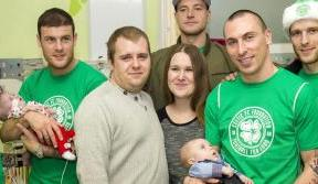 Celtic players visit Yorkhill Children's Hospital