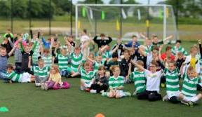 Young Hoops Club members enjoy a day of fun at Barrowfield
