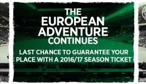 Last chance to guarantee a UCL seat in with a season ticket