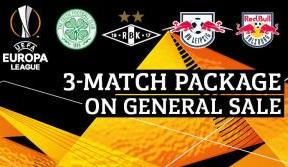 Europa League three-match packages on general sale now