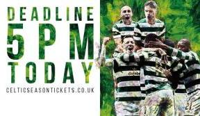 Extended Season Ticket renewal deadline – 5pm today