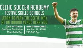 Book now for Celtic Soccer Academy's Festive Skills Schools