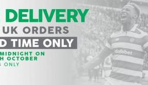 Free UK delivery on all online orders – for a limited time only
