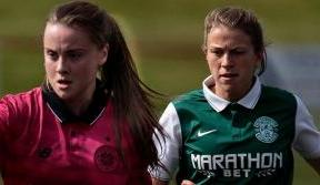 Celtic Women in cup final action this weekend v Hibs