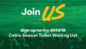 Join the 2017/18 Season Ticket Waiting List today