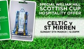 Enjoy great savings with special Scottish Cup hospitality packages