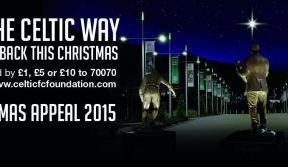 Celtic FC Foundation supporting Spirit Aid this Christmas