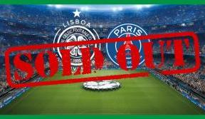PSG single match tickets sold out