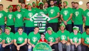 Celtic FC Foundation's £10k donation to Glasgow Children's Hospital