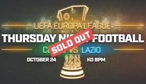 Standard Lazio tickets sold out – limited hospitality remaining