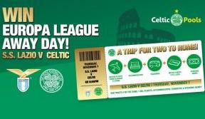 Less Than 24 Hours To Go! Win UEL Away Trip For Two To Lazio v Celtic