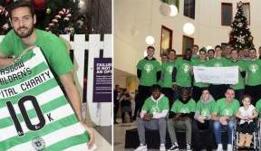 Celtic FC Foundation's £10k donation to Glasgow Children's Hospital