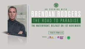 An evening with Brendan Rodgers – tickets on general sale now