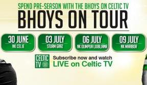 Bhoys on tour - see all four pre-season games live on Celtic TV