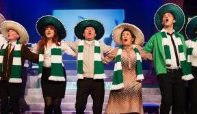 Tom Boyd in Derry for opening night of Celtic – The Musical