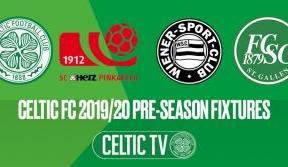 Celtic announce pre-season training camp matches