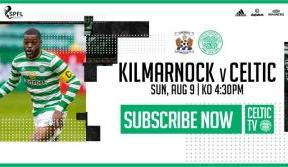 Kilmarnock v Celtic. Keep up with the champions on Celtic TV