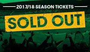 2017/18 season tickets sold out