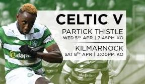 Tickets on sale for April matches v Partick Thistle and Kilmarnock