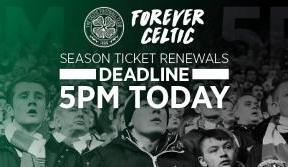 Last chance to renew your season ticket – deadline 5pm today