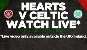 Tune in to Celtic TV LIVE from Tynecastle