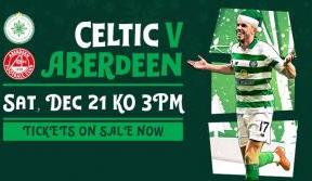 Festive football: Celtic v Aberdeen on sale now!