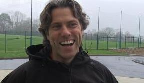 John Bishop sees the funny side of missing a spot-kick in Paradise