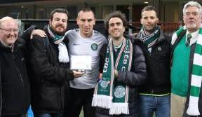 Italian Celts present award to Scott Brown