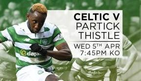 Celtic v Partick Thistle tickets on sale – don't miss out