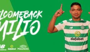 Delight as Emilio Izaguirre rejoins Celtic