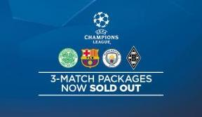 Champions League three-match packages sold out