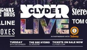 Win a pair of tickets to Clyde 1 LIVE at the SSE Hydro on December 8