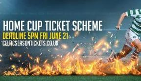 Deadline 5PM FRIDAY to join the 2019/20 home cup ticket scheme