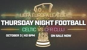 Limited Number Of Celtic V Cluj Tickets On Sale Now