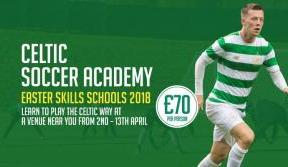 Book your place now for Celtic's Easter Skills Schools
