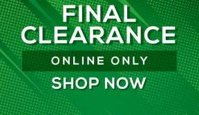 Last chance to grab a bargain in our final clearance sale