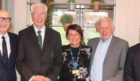 Lisbon Lions visit Glasgow's new Hospice