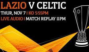 Lazio v Celtic live audio only on Celtic TV