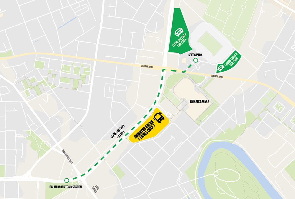 bus parking map